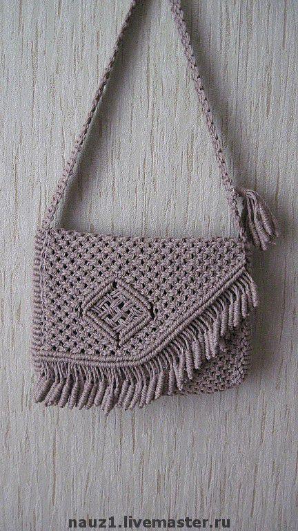 Женские сумки ручной работы. Ярмарка Мастеров - ручная работа. Купить Льняная сумка. Handmade. Лен, аксессуар, ажурное плетение