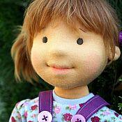 Куклы и игрушки ручной работы. Ярмарка Мастеров - ручная работа текстильная кукла  Любочка-Мышка 45см. Handmade.