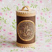 Русский стиль handmade. Livemaster - original item Birch-bark box