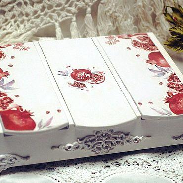 """Свадебный салон ручной работы. Ярмарка Мастеров - ручная работа Купюрница """"Гранатовое счастье"""". Handmade."""