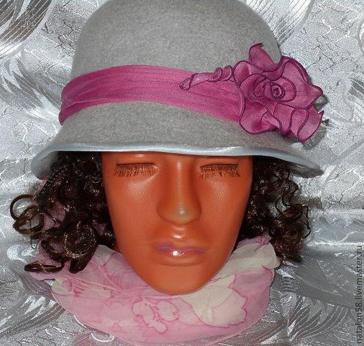 Шляпы ручной работы. Ярмарка Мастеров - ручная работа. Купить Модель № 5 . Нежность. Handmade. Серый, элегантная