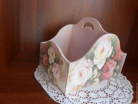 """Корзины, коробы ручной работы. Ярмарка Мастеров - ручная работа. Купить Короб """"Розы"""". Handmade. Бледно-розовый, короб для сладостей"""