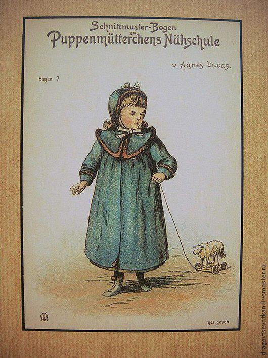 Куклы и игрушки ручной работы. Ярмарка Мастеров - ручная работа. Купить Коллекция выкроек немецкой старинной кукольной одежды.. Handmade.