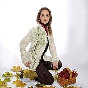 Одежда ручной работы. Ярмарка Мастеров - ручная работа Жакет валяный Флора. Handmade.