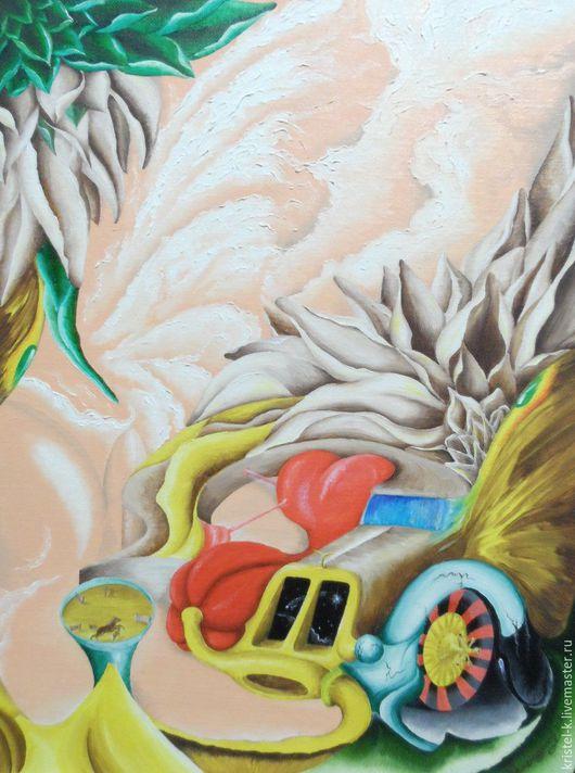 Символизм ручной работы. Ярмарка Мастеров - ручная работа. Купить Картина маслом с авто, сюрреализм, 30х40. Handmade. Нежная картина