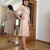 Одежда handmade. Livemaster - original item Crocheted cotton dress