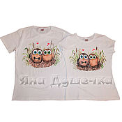 Одежда handmade. Livemaster - original item Paired t-shirts for lovers