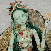 Куклы и игрушки handmade. Livemaster - original item porcelain. Jointed doll Green Tara. Handmade.