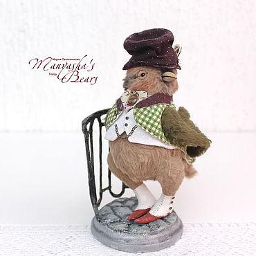 Куклы и игрушки ручной работы. Ярмарка Мастеров - ручная работа Чижик-Пыжик, тедди птичка, 19 см, teddy bird toy. Handmade.