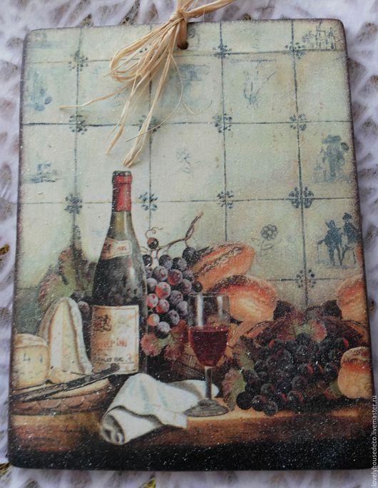 """Натюрморт ручной работы. Ярмарка Мастеров - ручная работа. Купить Панно """"Виноградное вино"""". Handmade. Панно, кухня, для дачи, комбинированный"""