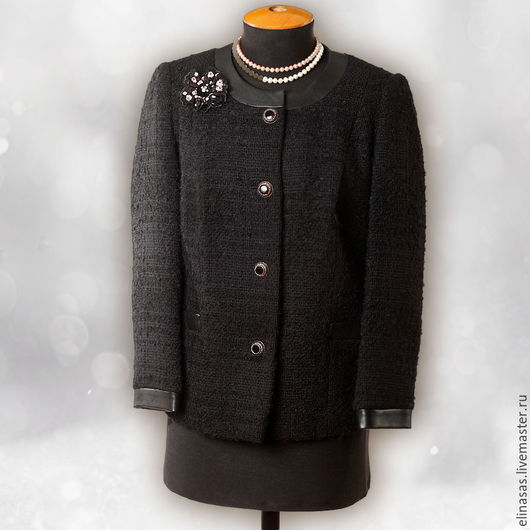 Пиджаки, жакеты ручной работы. Ярмарка Мастеров - ручная работа. Купить Жакет стильный. Handmade. Черный, тепло