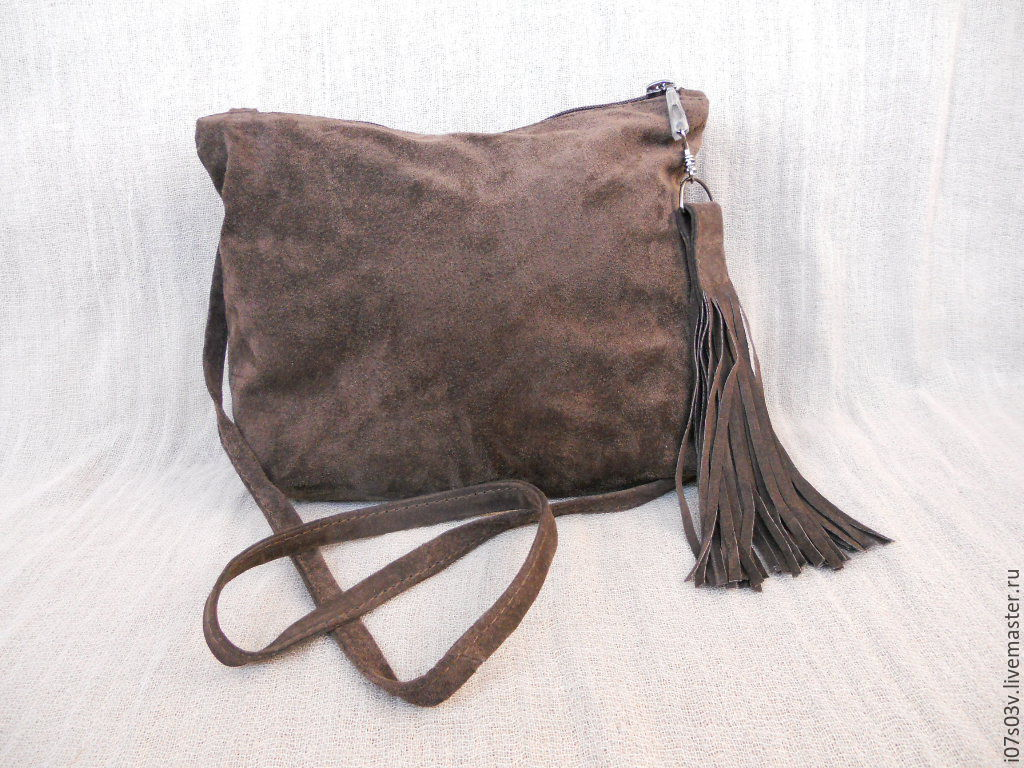 Suede bag art.1-390, Handbags handmade, Jelgava, Фото №1