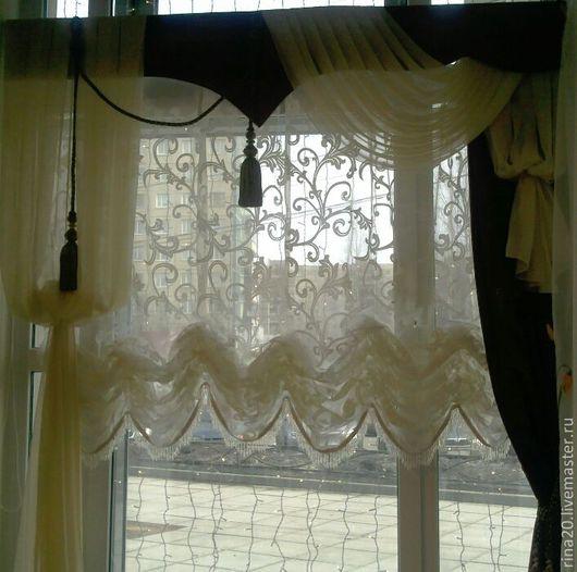 Текстиль, ковры ручной работы. Ярмарка Мастеров - ручная работа. Купить шторы. Handmade. На заказ, шторы для гостиной