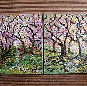 """Картины и панно ручной работы. Ярмарка Мастеров - ручная работа масло """" Осенний Тандем"""" ( 2 картины). Handmade."""