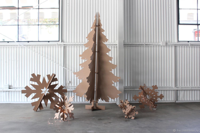 Новый год 2019 ручной работы. Ярмарка Мастеров - ручная работа. Купить Елка из дерева ,декоративная елка. Handmade. Дизайнерская елка