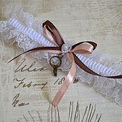 """Свадебный салон ручной работы. Ярмарка Мастеров - ручная работа Свадебная подвязка для невесты """" Осенний винтаж"""". Handmade."""