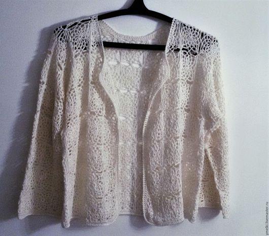 Пиджаки, жакеты ручной работы. Ярмарка Мастеров - ручная работа. Купить кофточка. Handmade. Однотонный, хлопок с вискозой