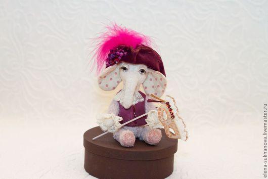 """Мишки Тедди ручной работы. Ярмарка Мастеров - ручная работа. Купить """"Маленький Венецианец"""". Handmade. Фиолетовый, подарок, стеклянные глазки"""