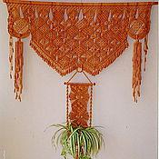 Для дома и интерьера ручной работы. Ярмарка Мастеров - ручная работа Панно-ламбрекен на окно. Handmade.