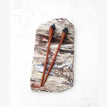 Украшения ручной работы. Ярмарка Мастеров - ручная работа Комплект палочек для волос «Чёрные тюльпаны». Handmade.