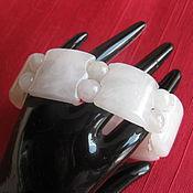 """Украшения handmade. Livemaster - original item Браслет """"Уральские самоцветы - Розовый кварц - камень любви"""". Handmade."""