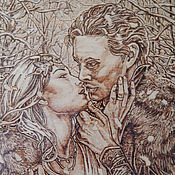 """Картины и панно ручной работы. Ярмарка Мастеров - ручная работа Картина """"Поцелуй"""". Handmade."""