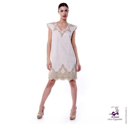 """Платья ручной работы. Ярмарка Мастеров - ручная работа. Купить Платье льняное с вышивкой """"Роскошная простота на каждый день"""". Handmade."""