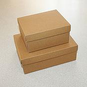 Коробки ручной работы. Ярмарка Мастеров - ручная работа 1109 Коробка из КРАФТ картона крышка + дно индивидуальный размер. Handmade.