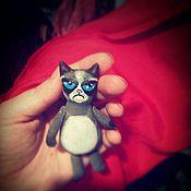 Куклы и игрушки ручной работы. Ярмарка Мастеров - ручная работа Злой котик. Handmade.