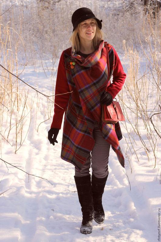 """Верхняя одежда ручной работы. Ярмарка Мастеров - ручная работа. Купить Пальто-трансформер """". Handmade. Комбинированный, Осеннее пальто"""