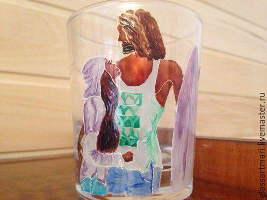 Бокалы, стаканы ручной работы. Ярмарка Мастеров - ручная работа. Купить Стакан ручная роспись Айза. Handmade. Комбинированный