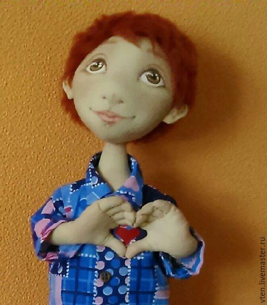 Куклы тыквоголовки ручной работы. Ярмарка Мастеров - ручная работа. Купить Рыжик- кукла тыквоголовка, интерьерная. Handmade. Подарок