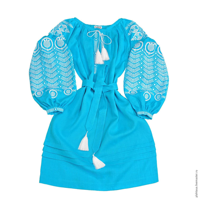"""Платье-вышиванка """"Лазурный водоворот"""", Dresses, Kiev,  Фото №1"""