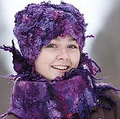 Аксессуары ручной работы. Ярмарка Мастеров - ручная работа Комплект шапка и шарф Мерцание. Handmade.