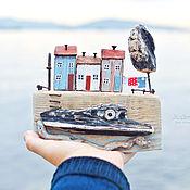 """Для дома и интерьера ручной работы. Ярмарка Мастеров - ручная работа Композиция """"Морская набережная"""". Handmade."""