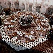 """Для дома и интерьера ручной работы. Ярмарка Мастеров - ручная работа Комплект столового белья """"Шоколад""""-резерв. Handmade."""