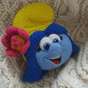 Украшения handmade. Livemaster - original item Felted brooch Smurfette blossom. Handmade.