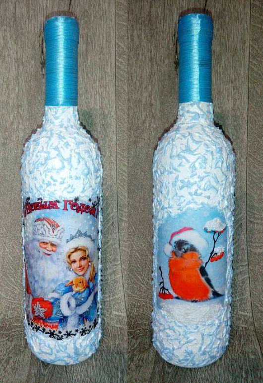 Персональные подарки ручной работы. Ярмарка Мастеров - ручная работа. Купить Подарочные бутылки с напитком. Handmade. Шампанское, подарок