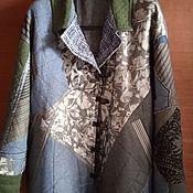Одежда handmade. Livemaster - original item Jackets: Patchwork jacket in gray tones. Handmade.