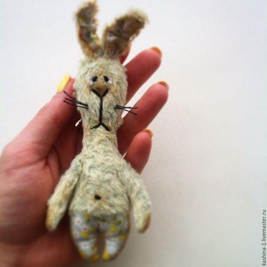 Мишки Тедди ручной работы. Ярмарка Мастеров - ручная работа. Купить Заяц в штанишках. Handmade. Салатовый, заяц игрушка