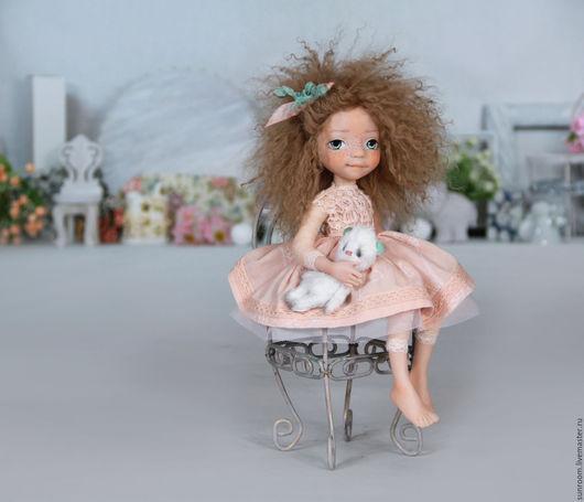 Коллекционные куклы ручной работы. Ярмарка Мастеров - ручная работа. Купить Эмилия. Handmade. Кремовый, кукла, девочка, вискоза