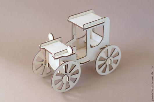 """Развивающие игрушки ручной работы. Ярмарка Мастеров - ручная работа. Купить Конструктор """"Ретро автомобиль"""". Handmade. Бежевый, модель для сборки"""