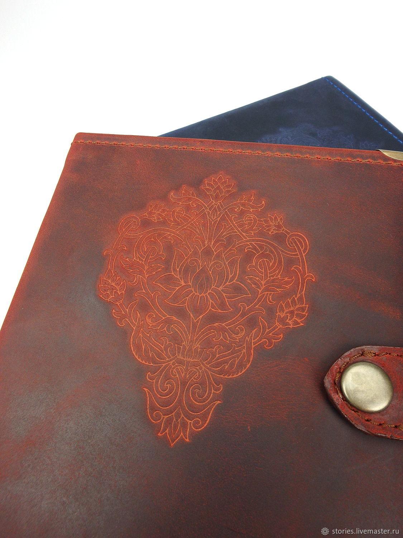 Блокнот в твердом переплете, кожаный блокнот, подарок женщине, Блокноты, Дубна,  Фото №1