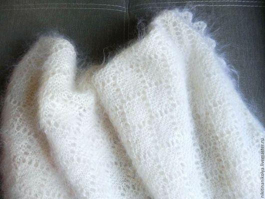"""Шали, палантины ручной работы. Ярмарка Мастеров - ручная работа. Купить Платок пуховый """"Топленое молоко"""". Handmade. Белый, платок"""