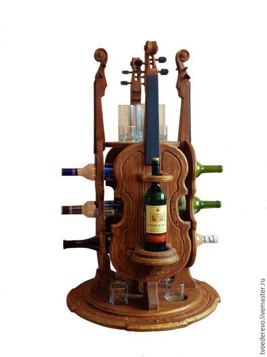 Мебель ручной работы. Ярмарка Мастеров - ручная работа. Купить мини бар скрипка. Handmade. Мини бар, подставка для бутылок