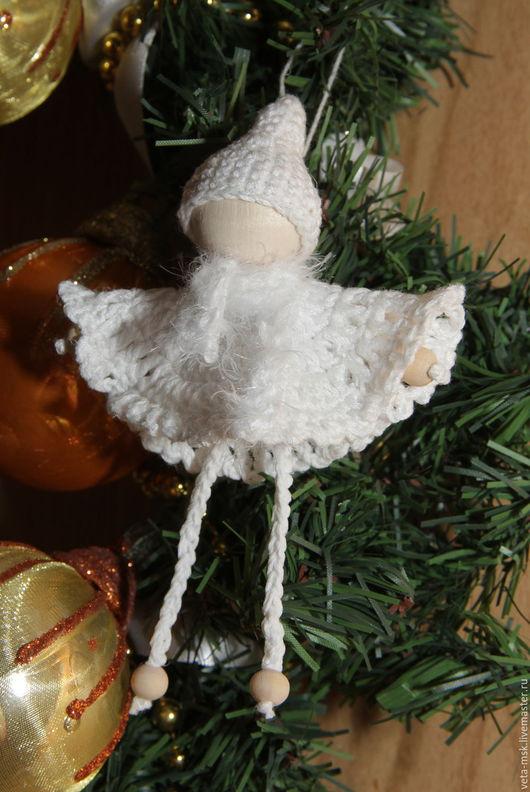 Миниатюрные модели ручной работы. Ярмарка Мастеров - ручная работа. Купить Рождественский ангел. Handmade. Белый, ангел, новогодний сувенир