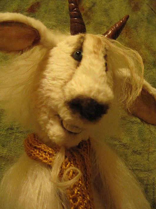Мишки Тедди ручной работы. Ярмарка Мастеров - ручная работа. Купить Ангорский козел винторогий. Handmade. Белый, длинноворсовой мохер