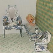 Куклы и игрушки ручной работы. Ярмарка Мастеров - ручная работа Кукольная мебель, мебель для ванной, масштаб 1:12.. Handmade.