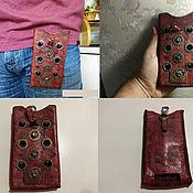 Чехол ручной работы. Ярмарка Мастеров - ручная работа Чехол для телефона из кожи. Handmade.