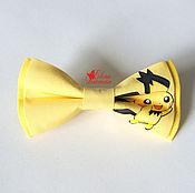 Галстуки ручной работы. Ярмарка Мастеров - ручная работа Бабочка галстук с покемоном, хлопок. Handmade.